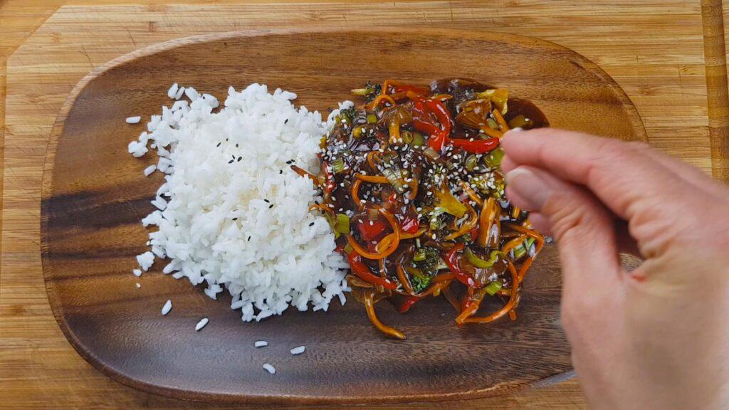 Liška nálevkovitá s rýží