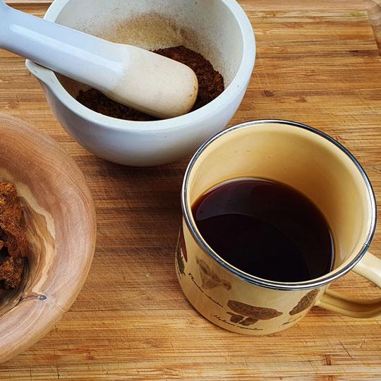 čaga čaj návod